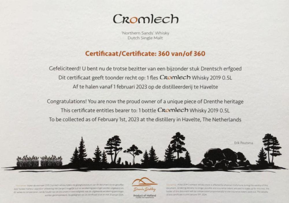 Cromlech Certificaat
